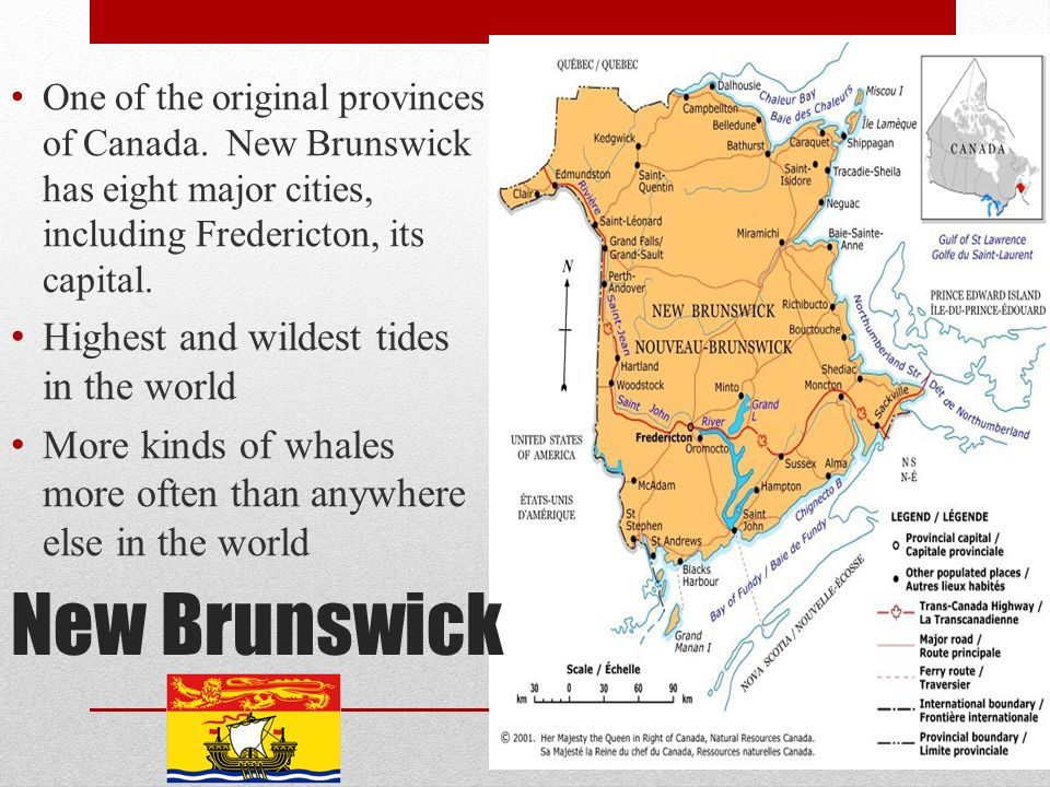 New Brunswick Highest and wildest tides in the world