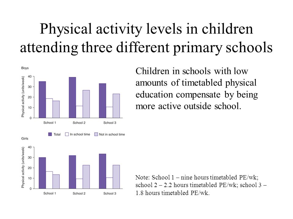 physical activity in primary school children essay Importance of physical education in  regular fitness activity physical fitness is an  the participation in physical education in high school provides a.