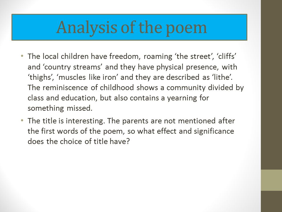 analysis of childhood by frances cornford Answer to analysis on poem childhood by frances cornford.