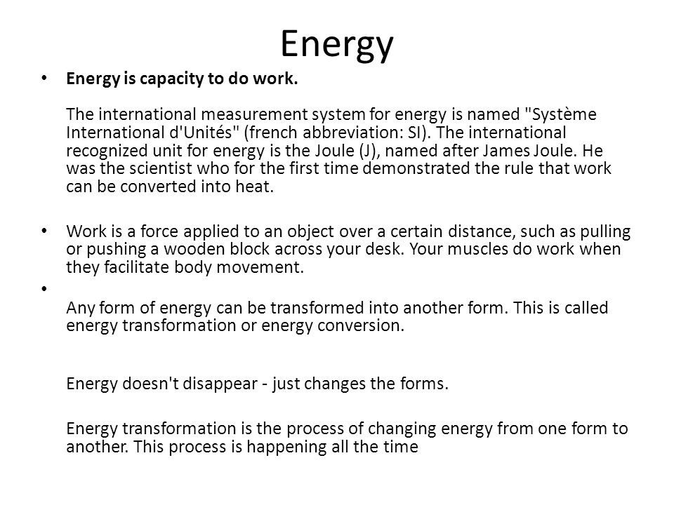 Energy Transformation and the Law of Conservation of Energy - ppt ...