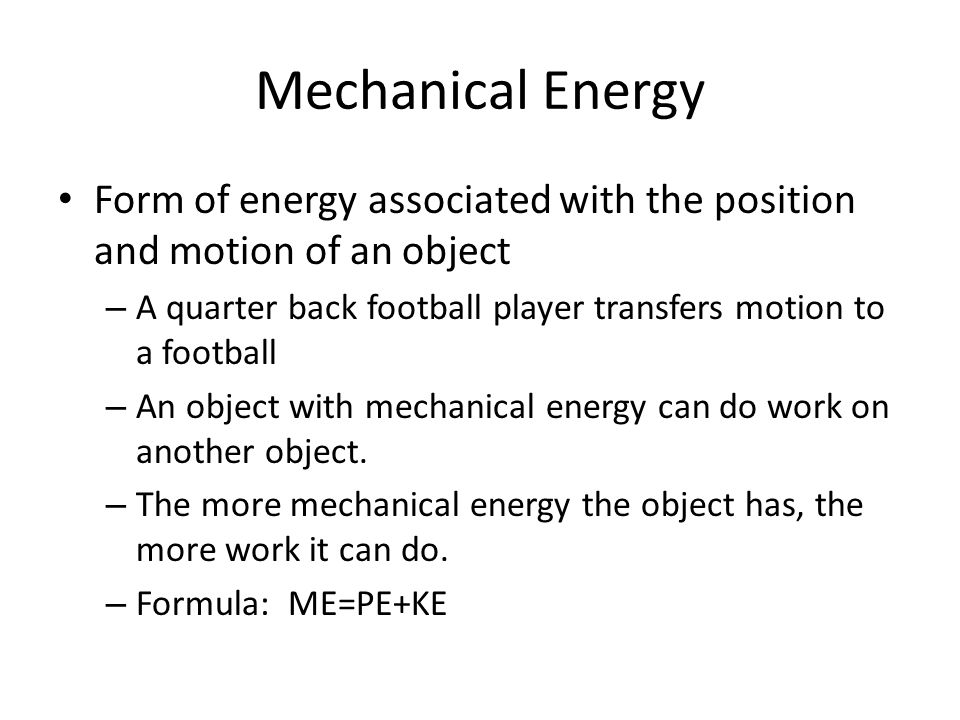 Mechanical Energy Cons... Formula Of Mechanical Energy