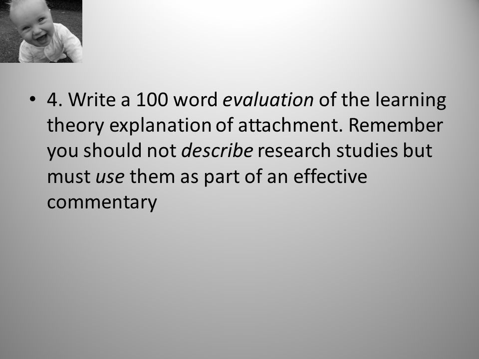learning theory attachment essay The social development theory by leo vygotsky primarily explains that socialization affects the learning process in an individual.