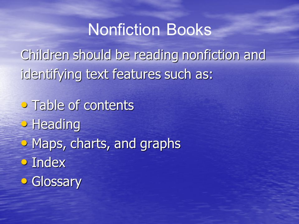 Nonfiction Books Children should be reading nonfiction and