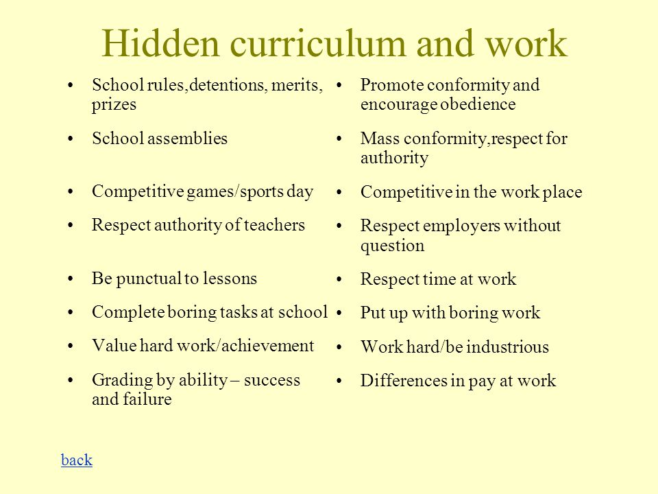 advantages and disadvantages of hidden curriculum pdf