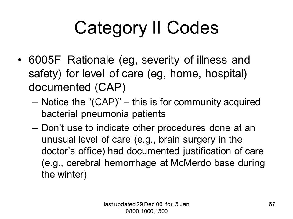 2007 Cpt Hcpcs Coding Changes For The Military Health