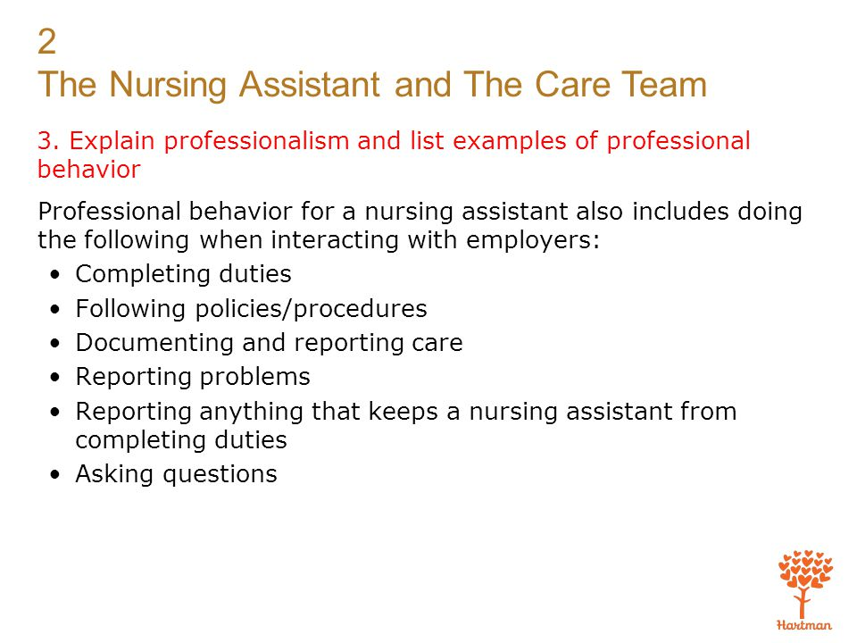 1  identify the members of the care team and describe how