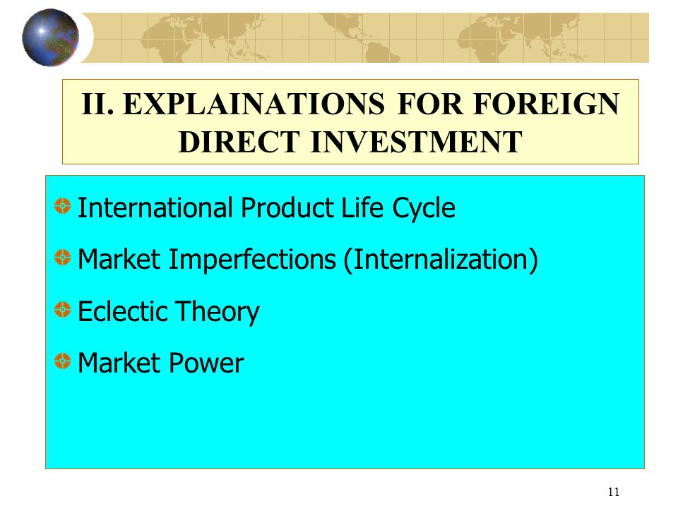 theoretical framework of fdi This paper presents a review of nine theoretical models of foreign direct investment (fdi) discussed are early studies of determinants of fdi (1) as well as de.