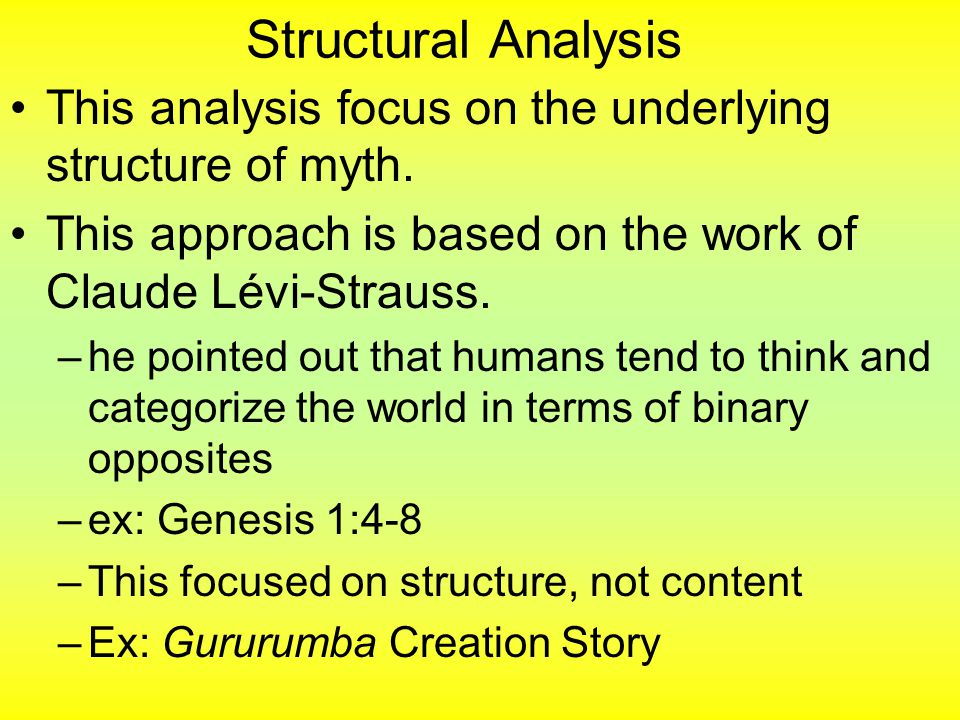 the structure of myth and the Structuralist theory of mythology  this leads to what lévi-strauss calls a spiral growth of the myth which is continuous while the structure itself is not the .