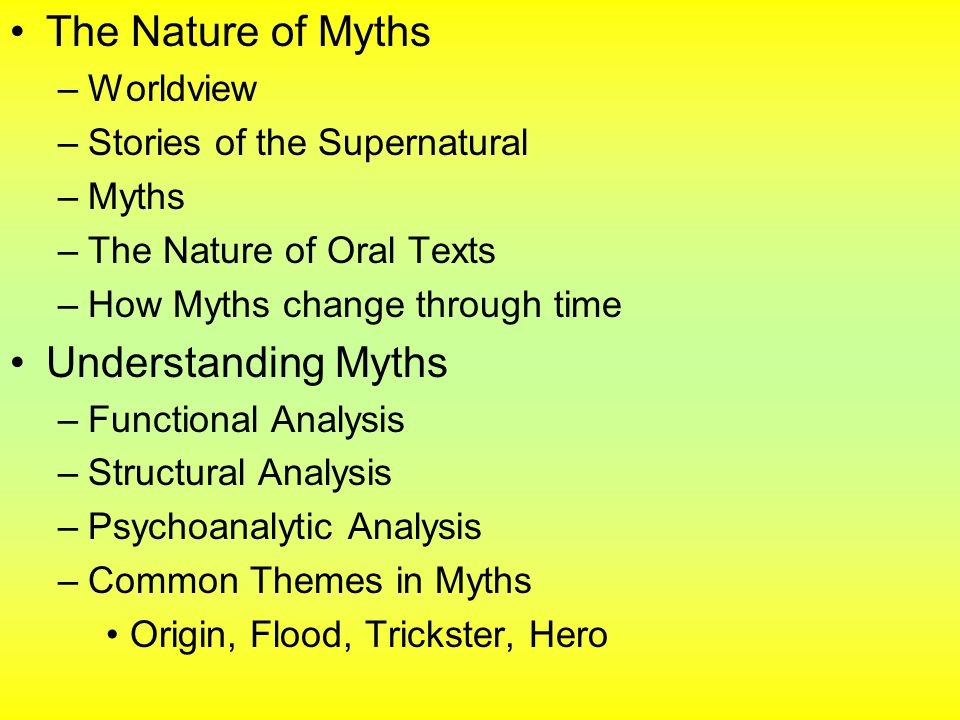 understanding myths