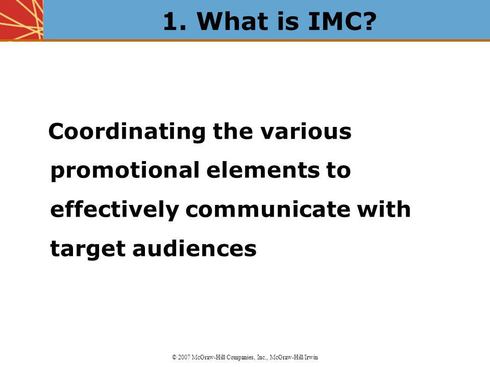 An Introduction to Integrated Marketing Communications (IMC) - ppt ...