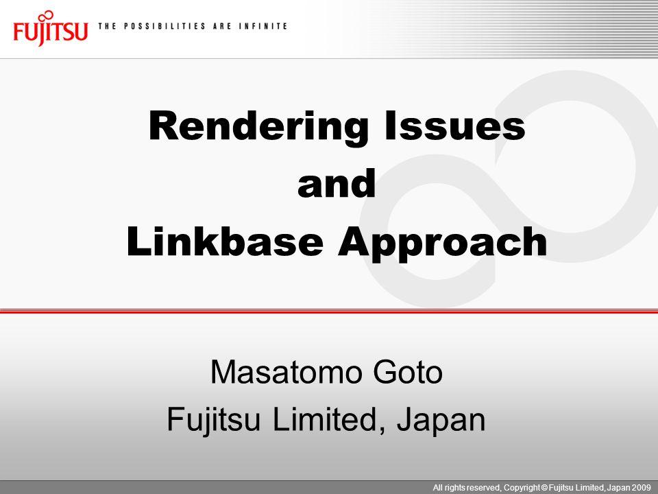 Masatomo Goto Fujitsu Limited, Japan