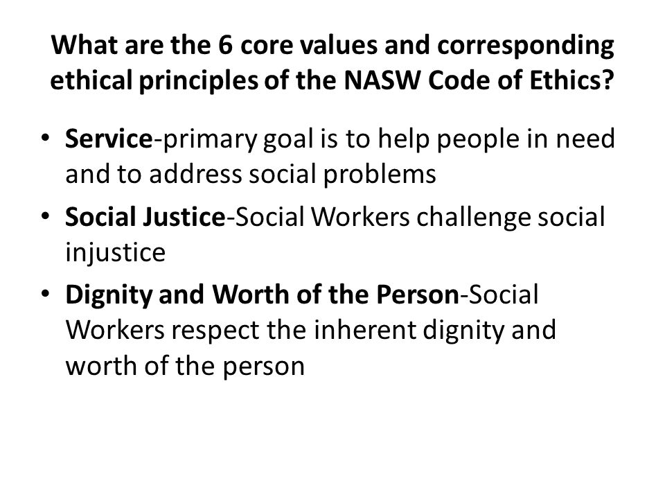 NASW Code of Ethics Summary