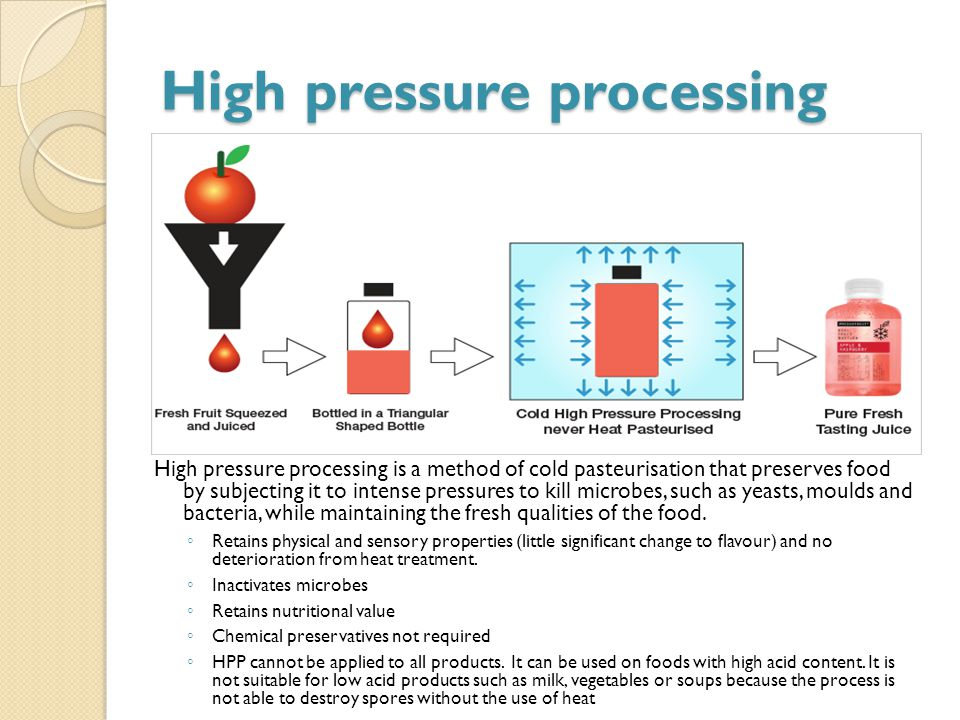 High Pressure Processing High Acid Foods