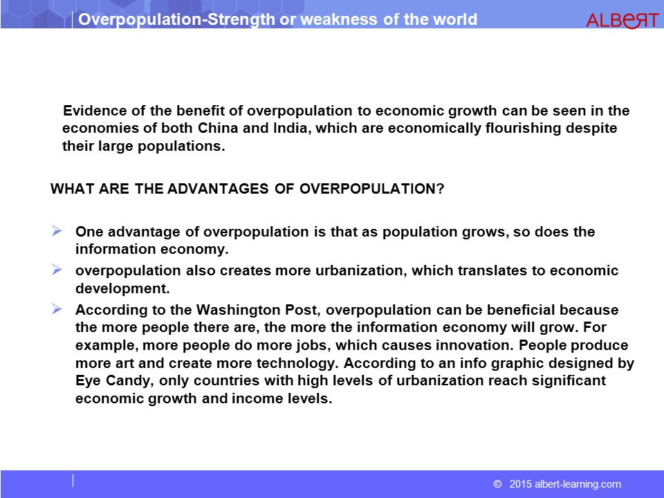 introduction overpopulation essay Overpopulation refers to a population that is too large and thus poses a problem of course, this depends on the context overpopulation is one the biggest problem.