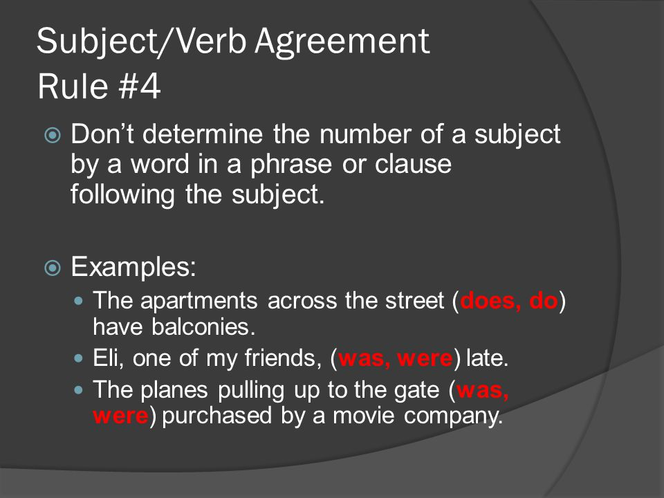 Subjectverb agreement ppt video online download subjectverb agreement rule 4 platinumwayz