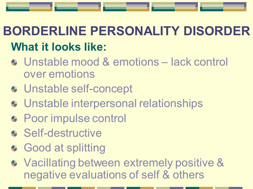Borderline personality disorder dating