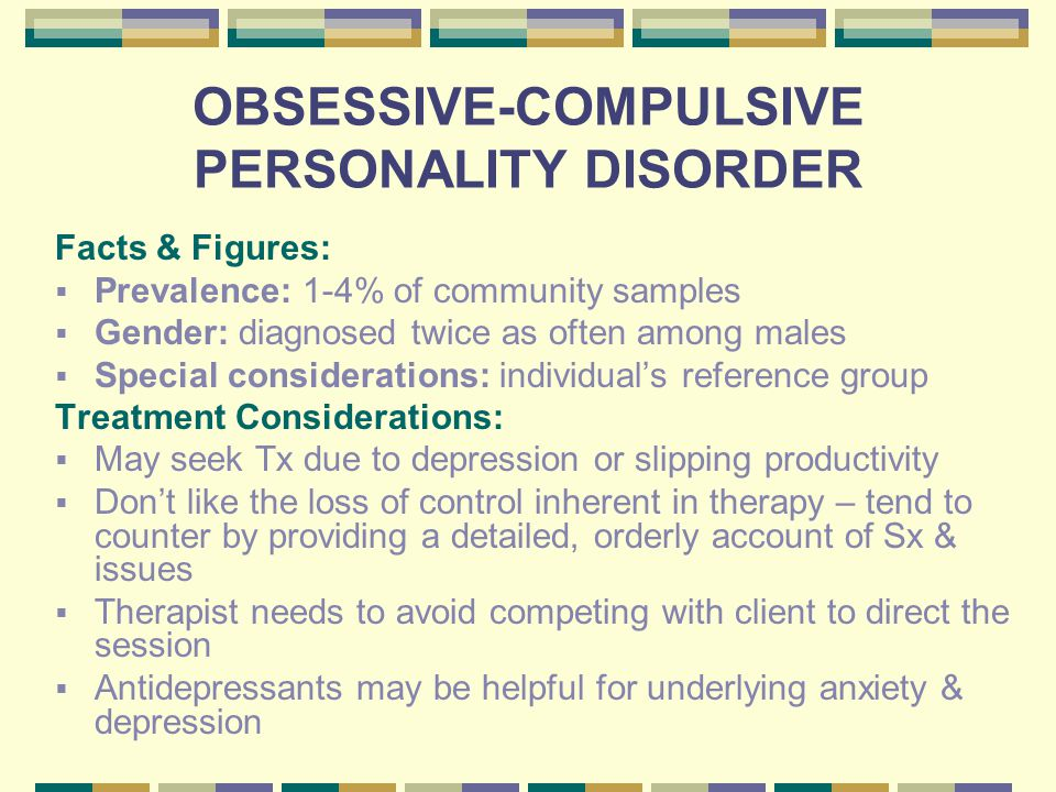 obsessive compulsive disorder term papers Ocd vs obsessive compulsive personality disorder obsessive-compulsive disorder the behaviors tend to be persistent and unchanging over the long term.
