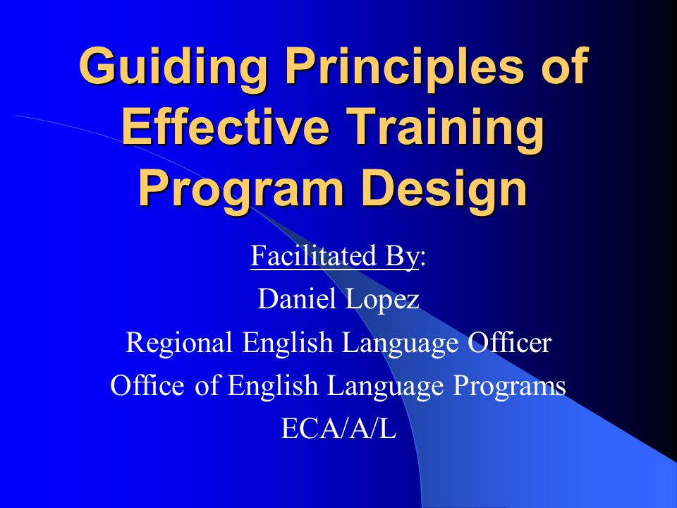 Guiding principles of effective training program design for Office design language