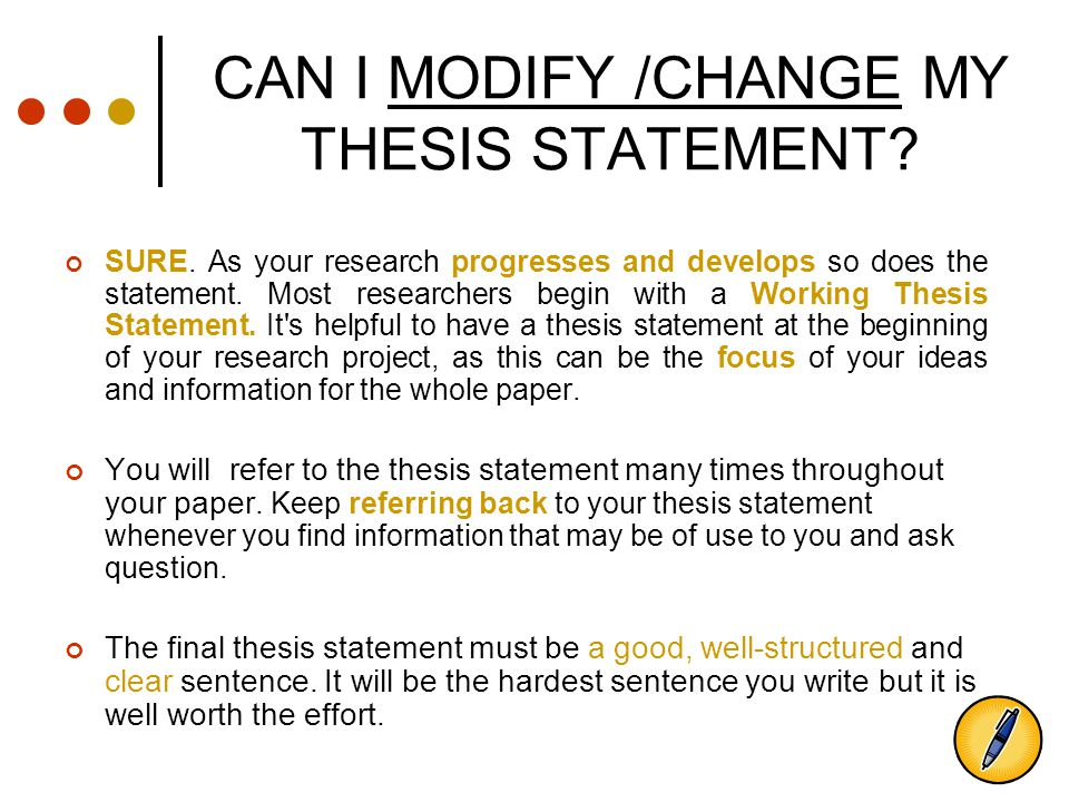 thesis statement about change