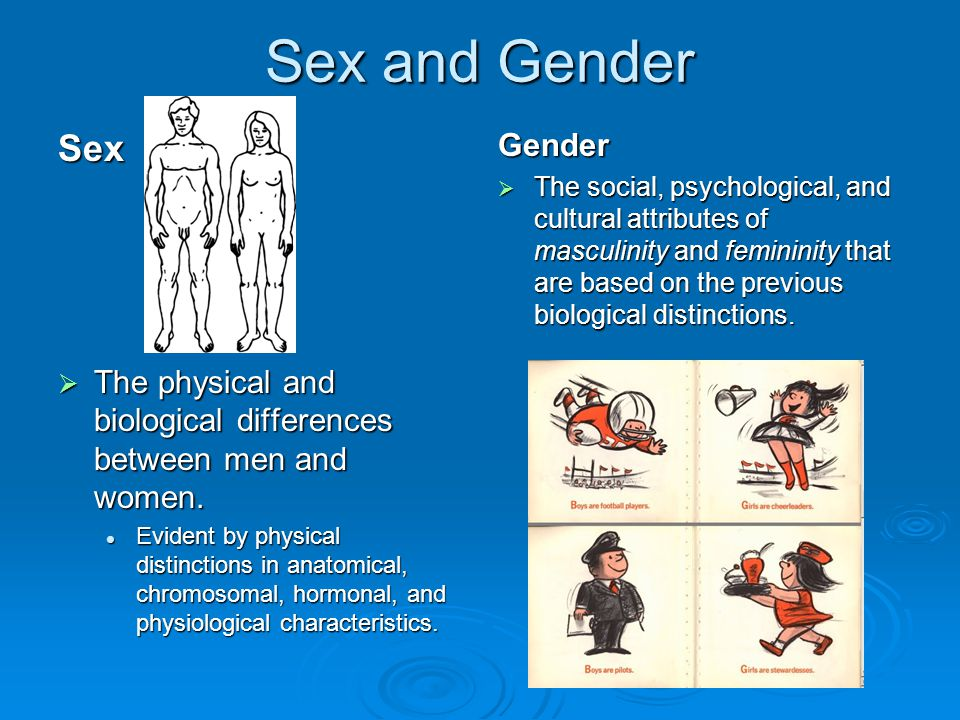The difference between sex and gender excited too
