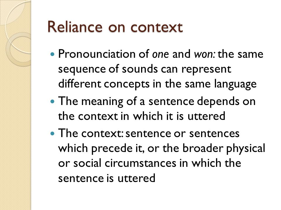 describe concepts of dialect context of Advocates of the fregean sense view describe our access to senses by means of the the context of interpretation to have concepts in the absence of language.