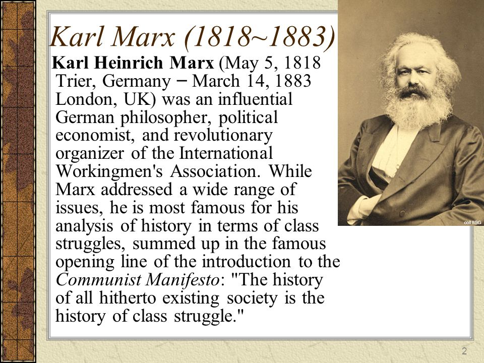 an introduction to the history of karl marx An introduction to historical materialism only as an introduction] an understanding of marx's philosophy to marx karl marx's theory of history:.