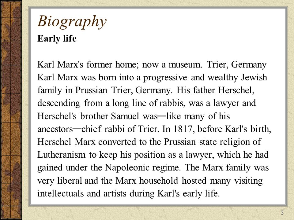 a biography of karl marx and an introduction to marxism Karl marx michael rosen the introduction to the grundrisse is the mature marx's most extended discussion of the method of political economy in addition.