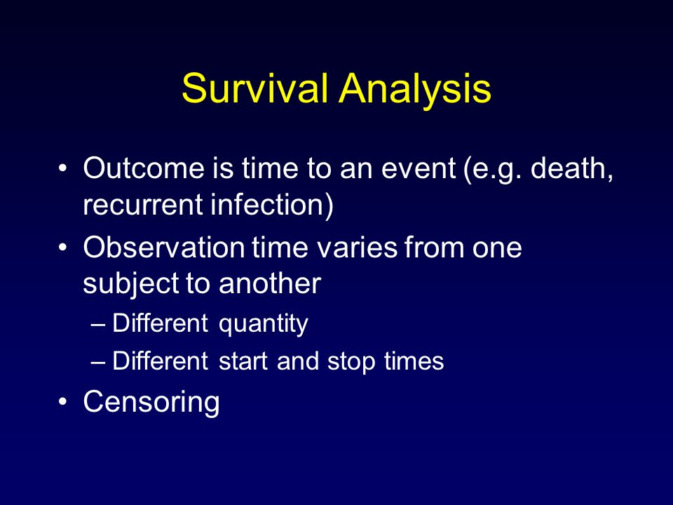 dying to survive an analysis The comparative analysis, the slow–fast continuum  of 'living fast, dying young  and leave a good looking  thus, for survival analysis, the may–september.