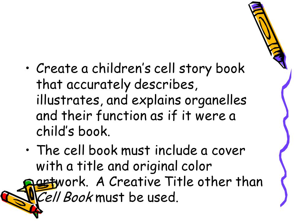 Create A Children S Book Cover : Cell children s book project ppt video online download
