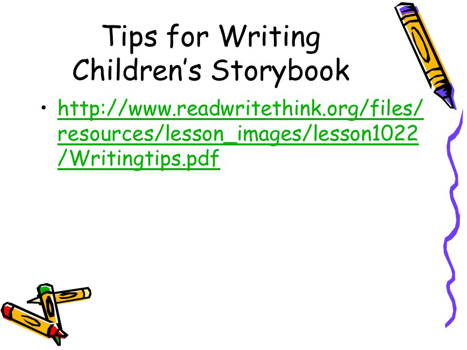 Top tips for writing a childrens book
