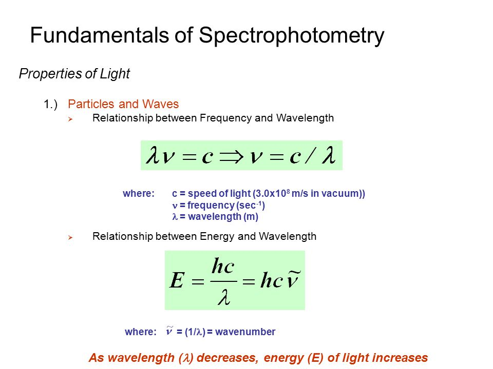 equation for relationship between energy and frequency