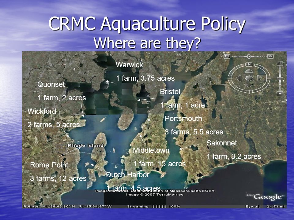 CRMC Aquaculture Policy Where are they