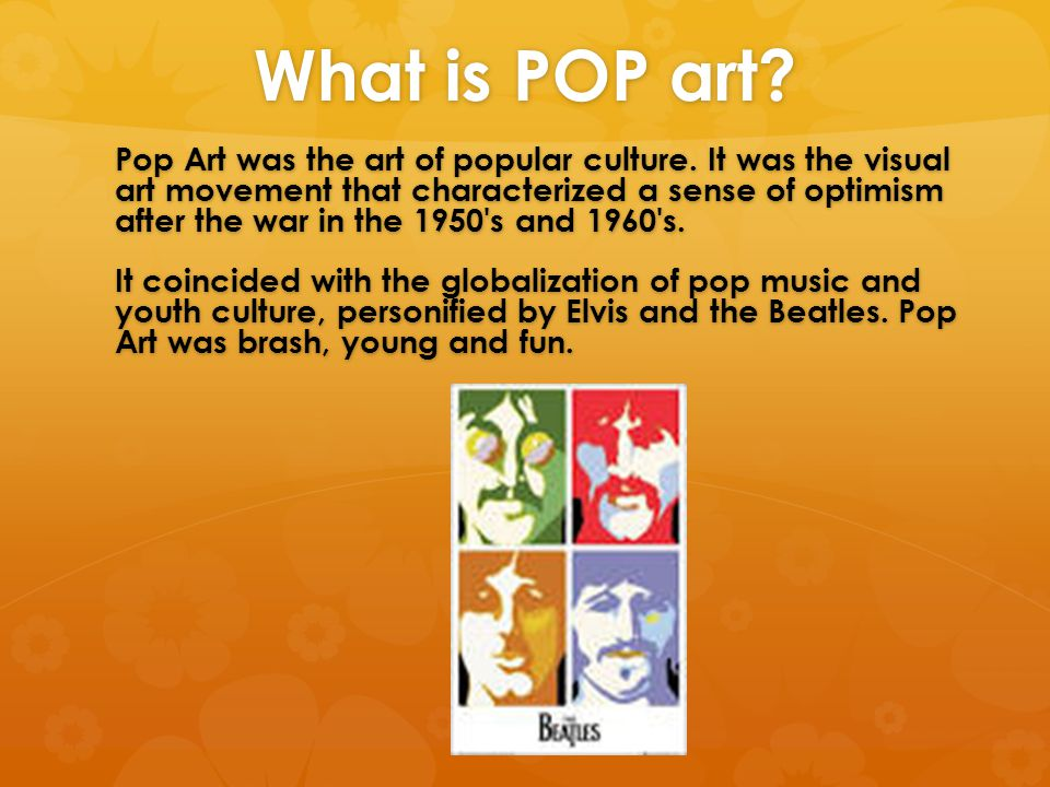 What is POP art