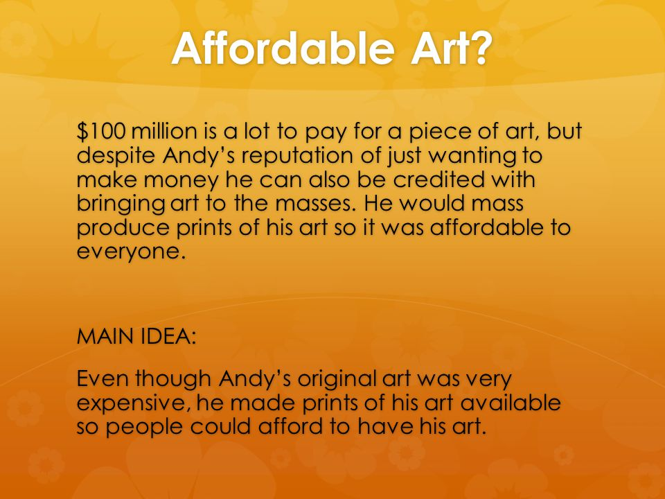 Affordable Art