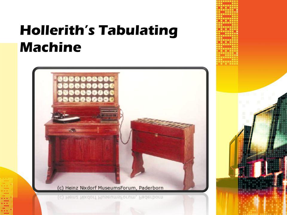 herman hollerith tabulating machine