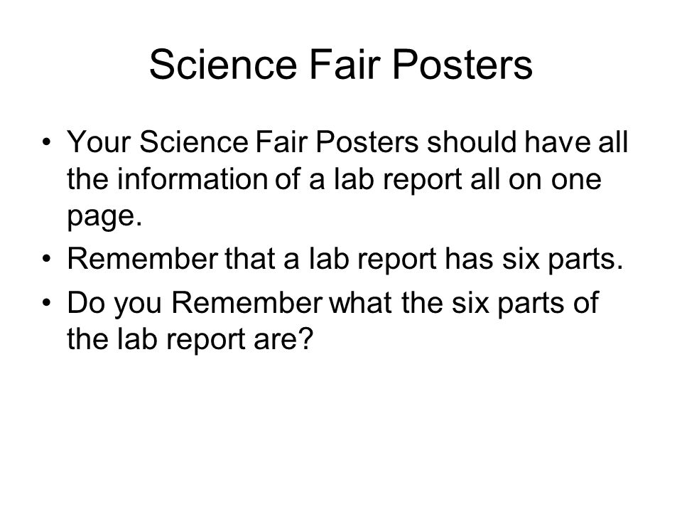 Aim What Should You Have On Your Science Fair Project Poster