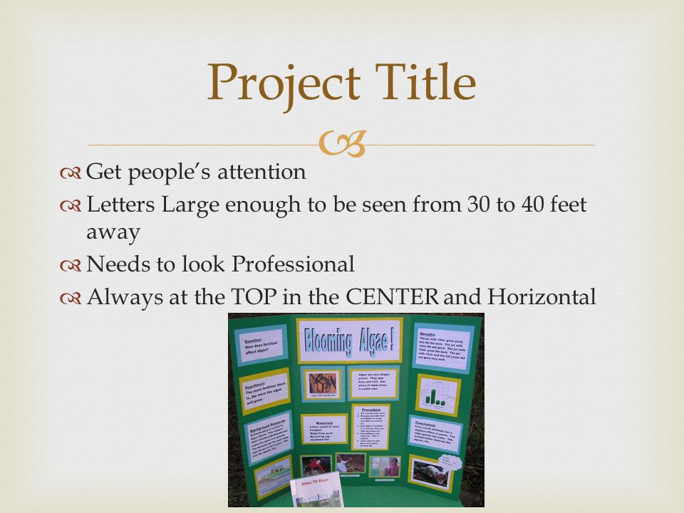 Project Title Get people's attention