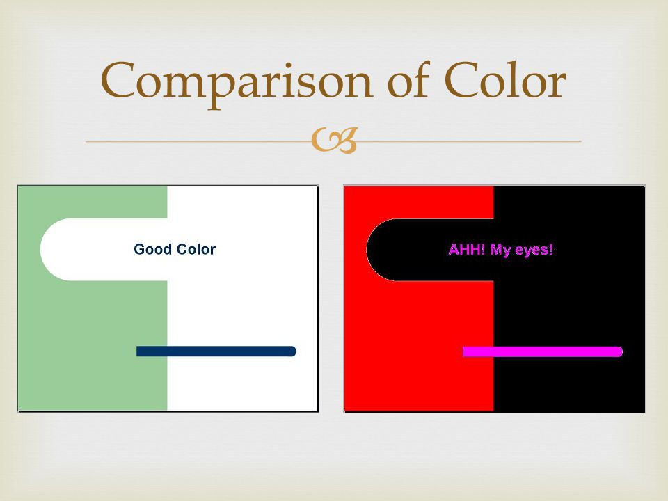 Comparison of Color