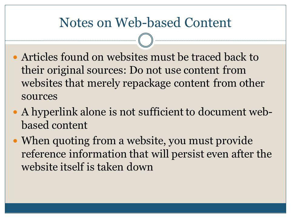 quoting a website
