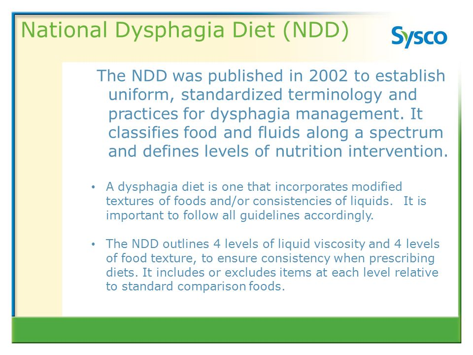 Level 2 National Dysphagia Diet