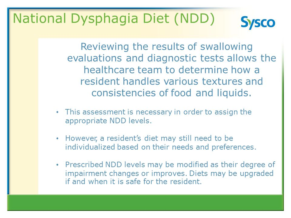 Level 1 National Dysphagia Diet