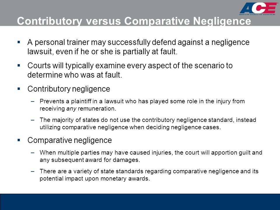 comparative and contributory negligence Understanding comparative fault, contributory negligence, and joint and several liability matthiesen, wickert & lehrer, sc - subrogation law firm.