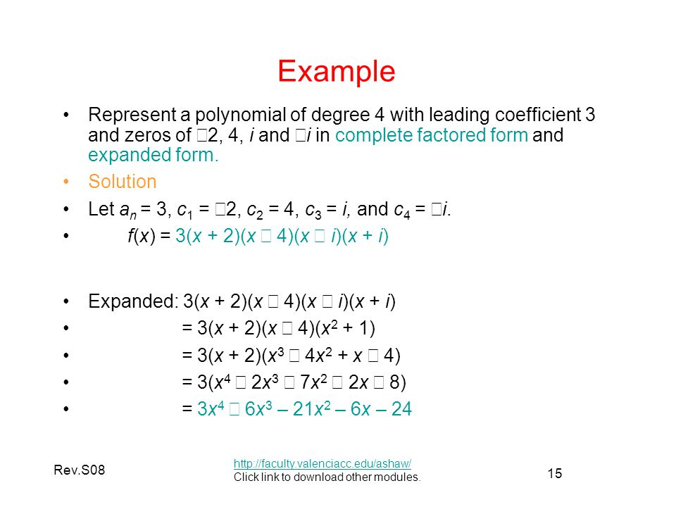 Solution of Polynomial Equations - ppt video online download