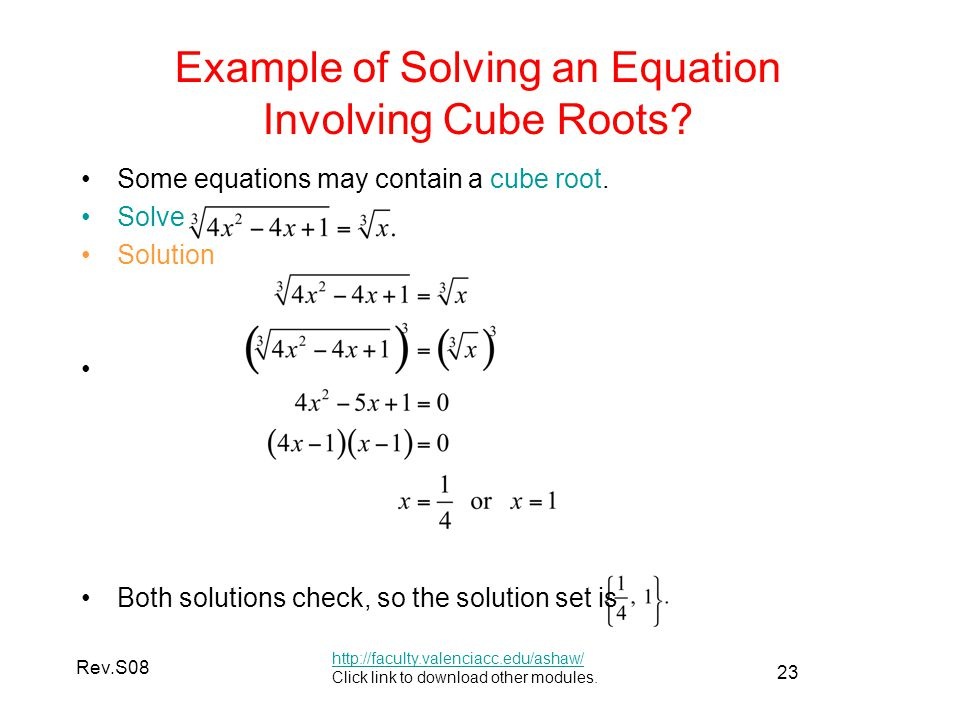 solving cube root equations examples tessshebaylo. Black Bedroom Furniture Sets. Home Design Ideas