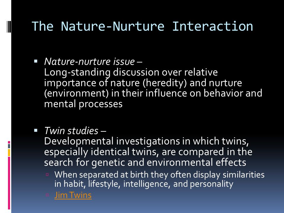 checkpoint the nature nurture issue Checkpoint the nature-nurture issue for more course tutorials visit wwwuophelpcom 1 checkpoint: the nature-nurture issue • post as attachment in individual forum day 5.