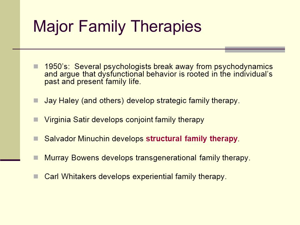 transgenerational and structural family therapy an Transgenerational family therapy: a case in point thorana s nelson transgenerational family therapy is a broad category of therapy that includes both theoretical tenets and techniques.