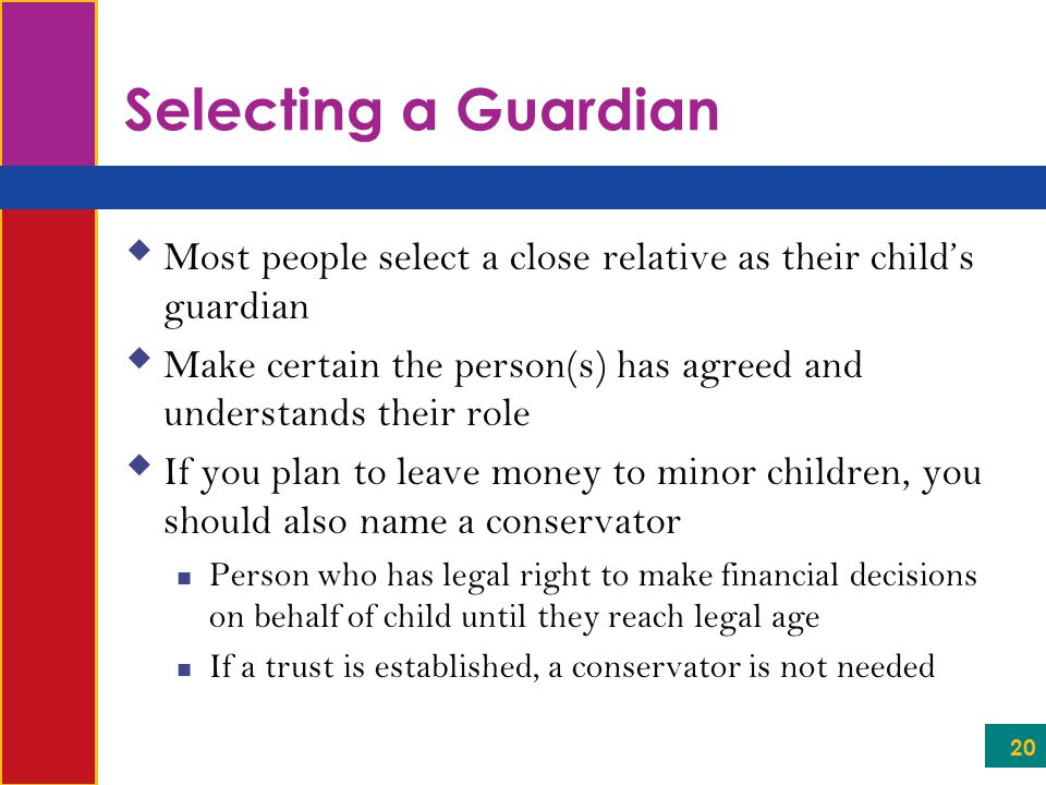 how to make someone a legal guardian of your child