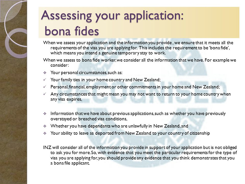 how to write a bona fide covering letter new zealand