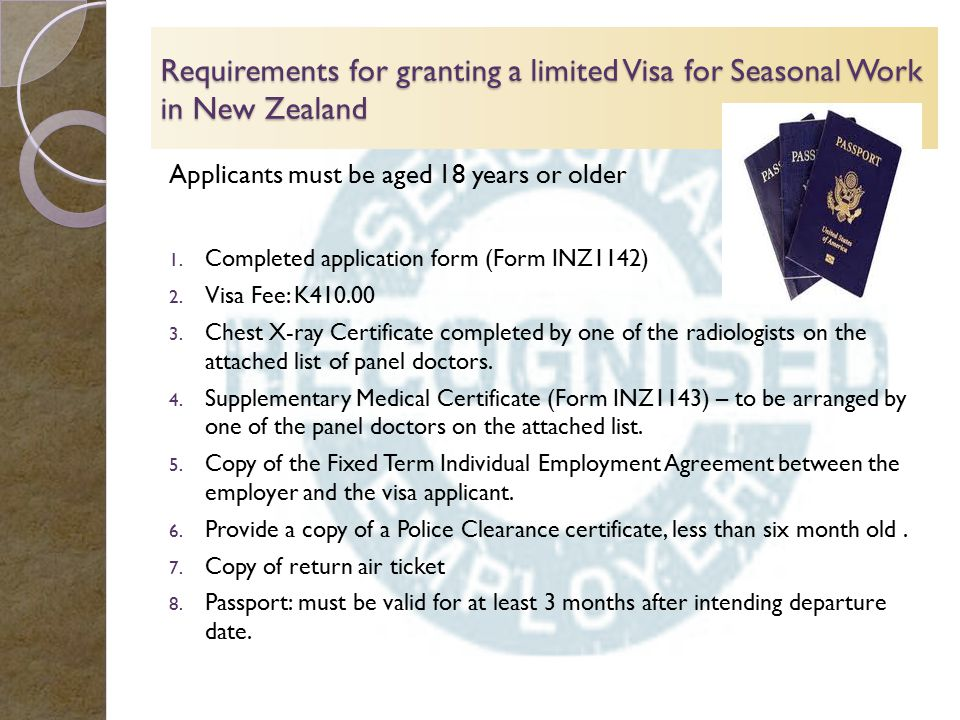 New zealands recognised seasonal employer rse ppt video requirements for granting a limited visa for seasonal work in new zealand yelopaper Image collections