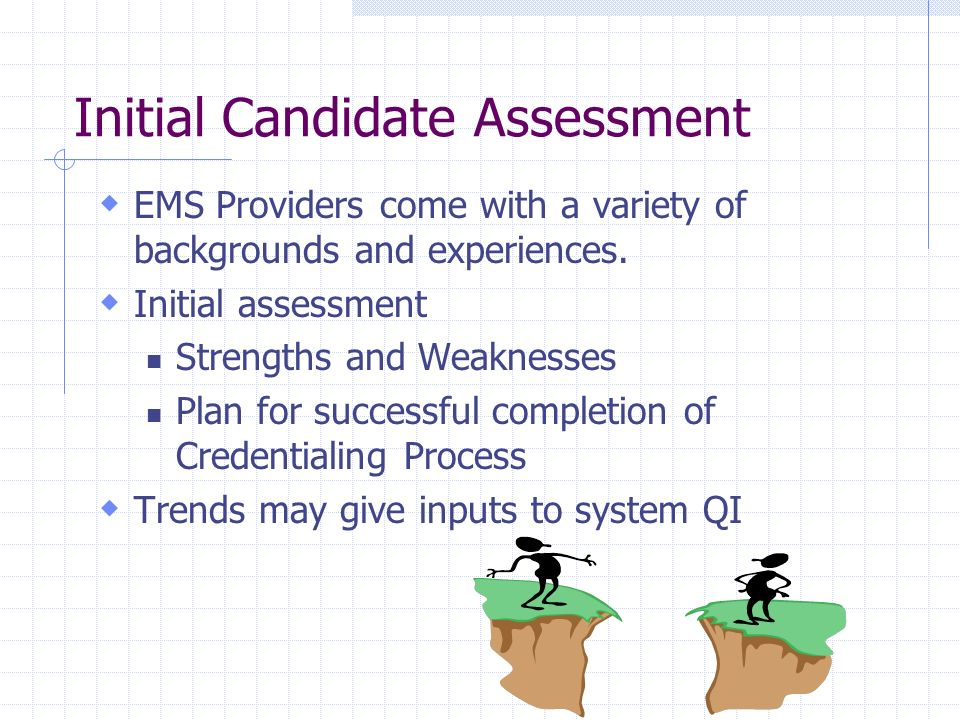 Initial Candidate Assessment